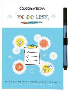 Correctbook bedrukt met uw eigen boodschap of logo. correctbooks voor een goed doel, en ecologisch verantwoord